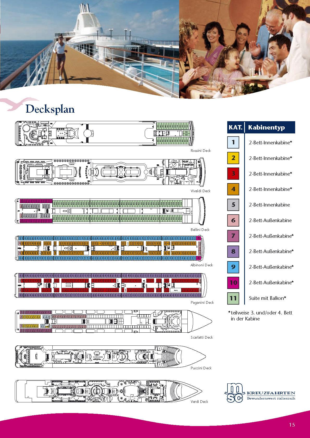 MSC - MSC Lirica Kreuzfahrt, Kreuzfahrtschiff