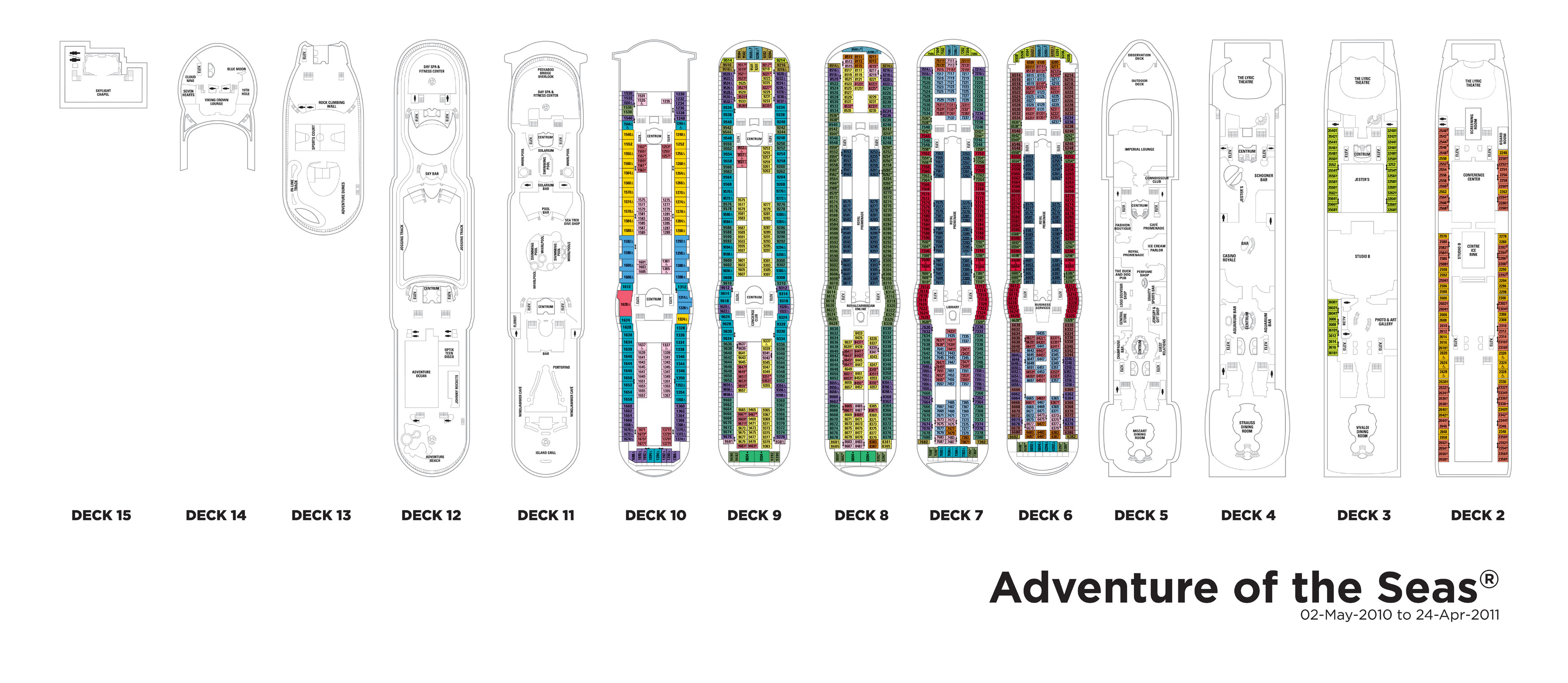 Royal caribbean cruise adventure of the seas deck plan great modest 21 royal caribbean cruise adventure of the seas deck plan new baanklon Gallery
