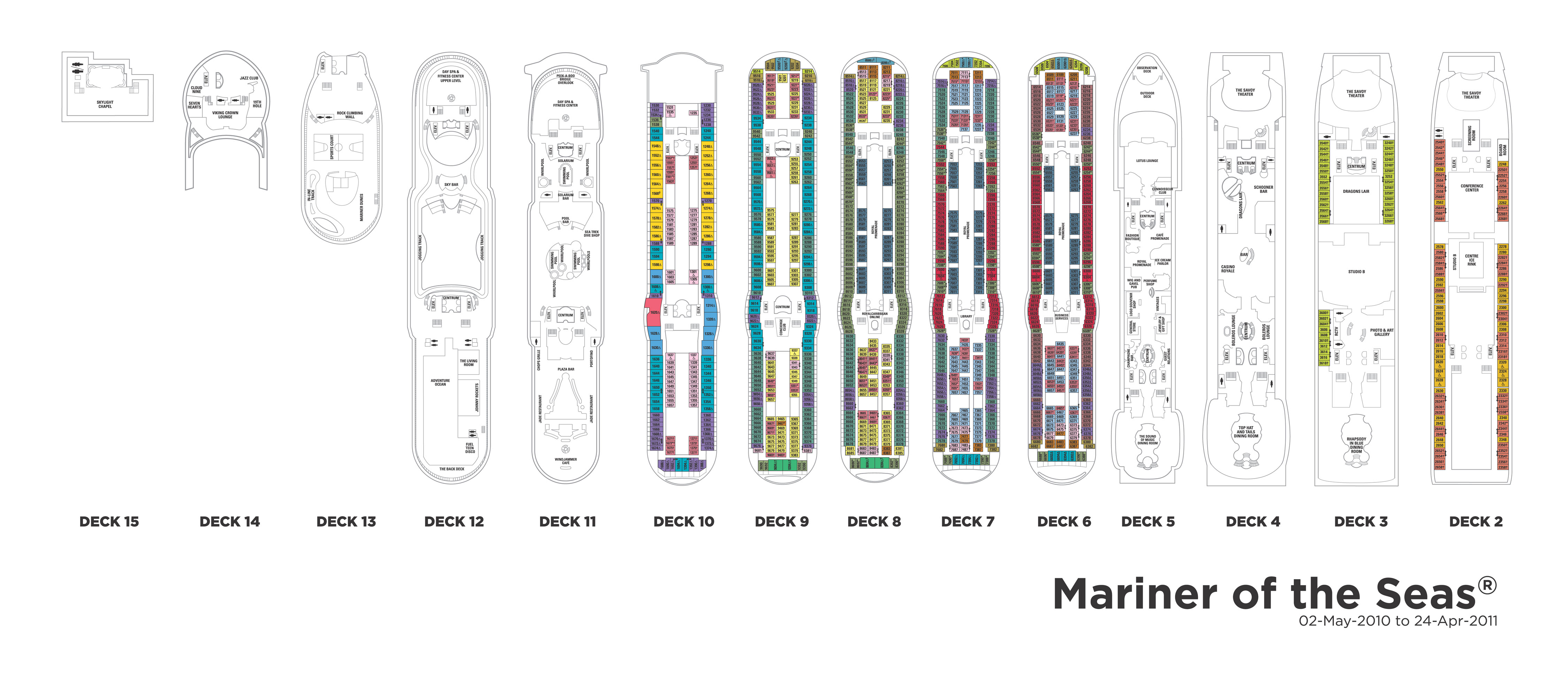 Royal Caribbean Mariner Of The Seas Deck Plan