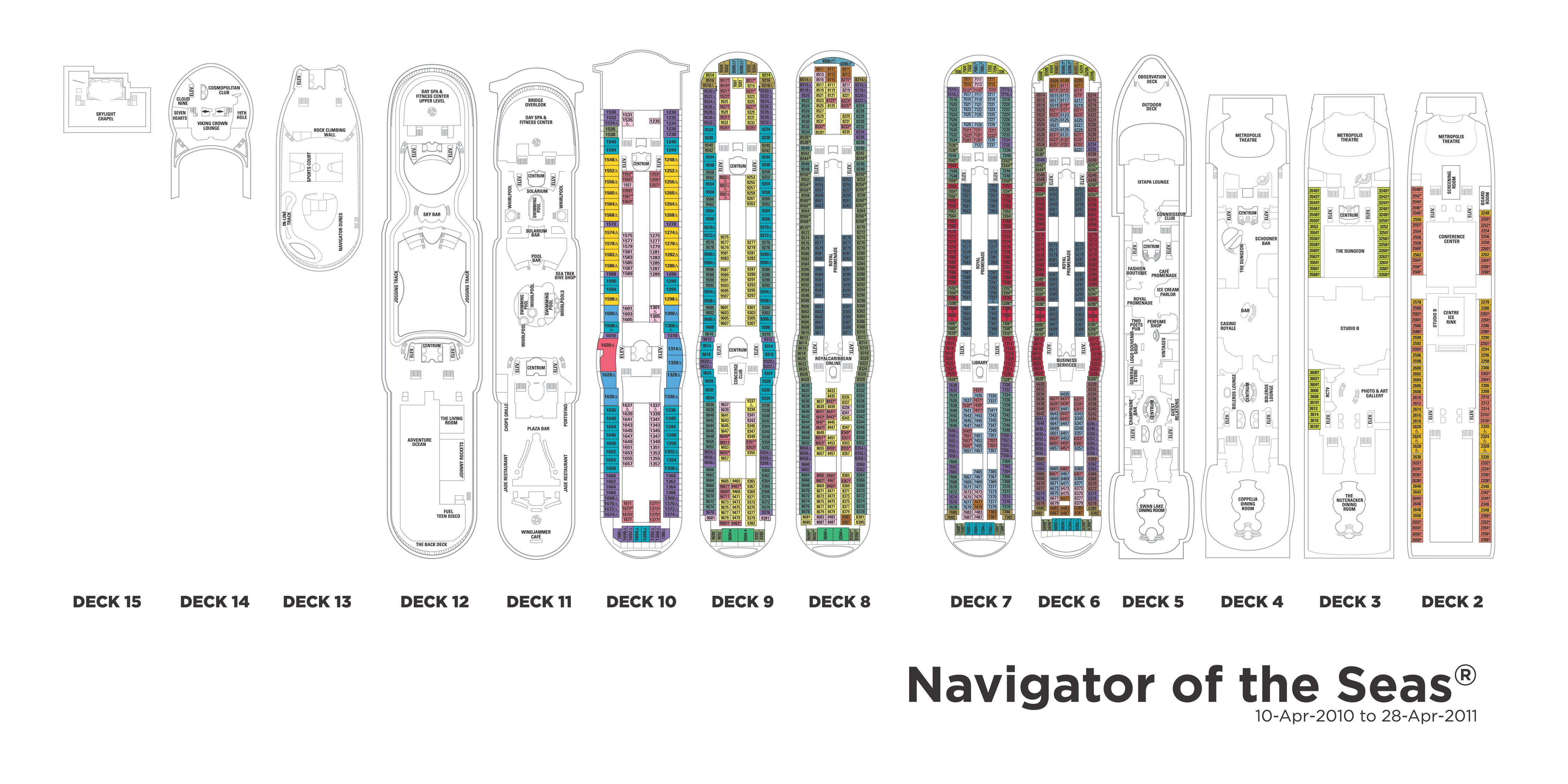 International - Navigator of the Seas Kreuzfahrt, Kreuzfahrtschiff